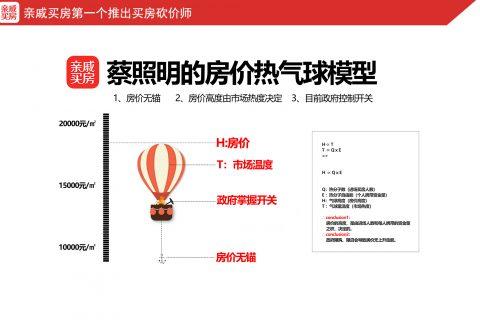 分享|蔡照明的房价热气球模型